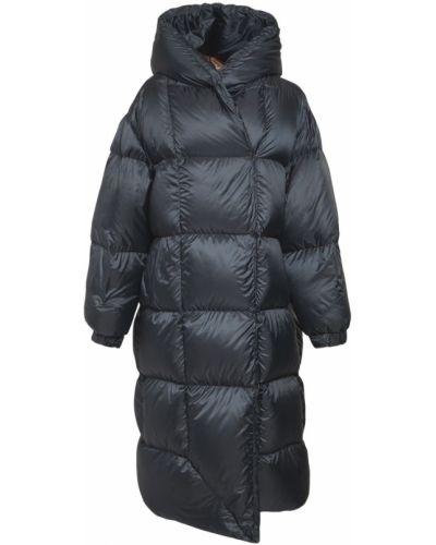 Коралловое пуховое длинное пальто с поясом с манжетами Max Mara