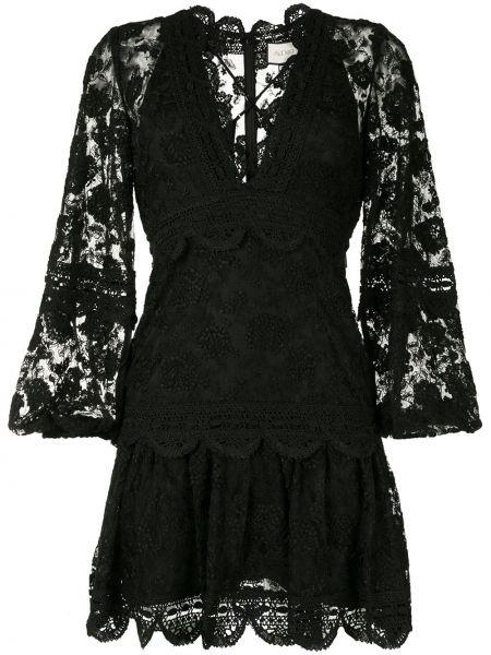 Платье мини с декольте на молнии Alexis