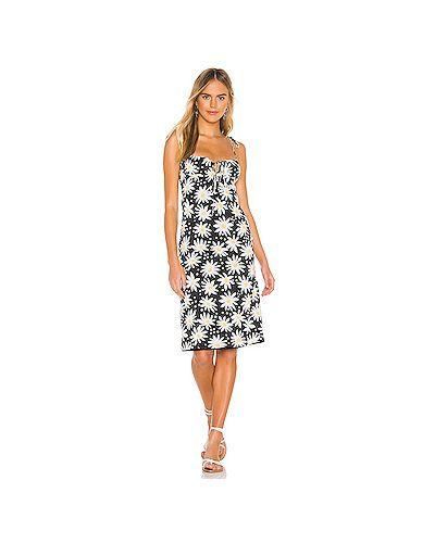 Платье мини с декольте в полоску Solid & Striped