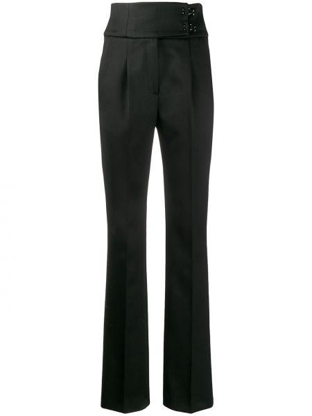 Черные прямые брюки с воротником со складками Olivier Theyskens