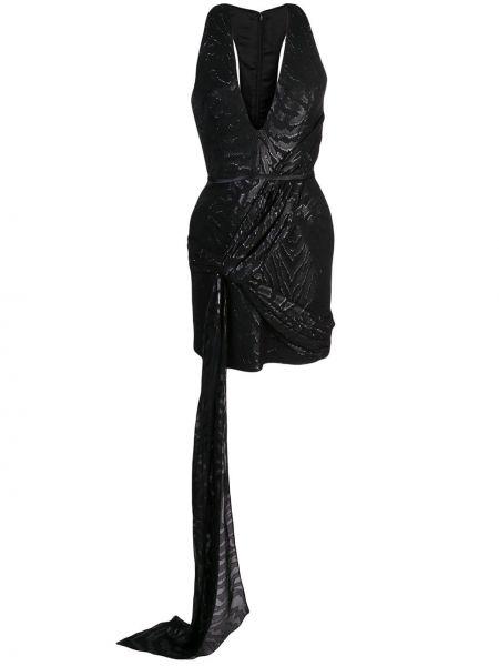 Czarna sukienka z jedwabiu bez rękawów Haney