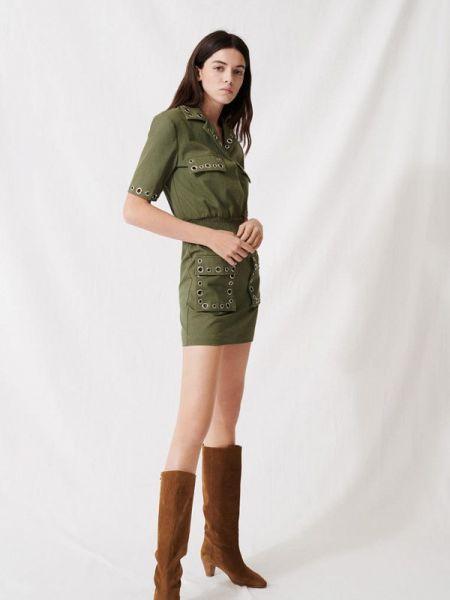 Повседневное платье весеннее зеленый Maje
