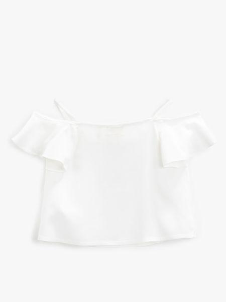 Розовая блузка с короткими рукавами Koton