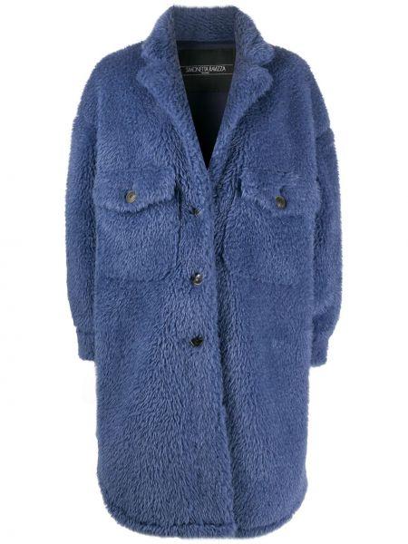 Синее пальто оверсайз на пуговицах Simonetta Ravizza