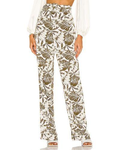 Шелковые белые классические брюки с поясом Bronx And Banco