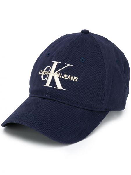 Хлопковая кепка - синяя Calvin Klein