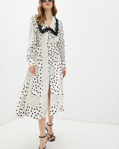 Белое платье-рубашка Adl