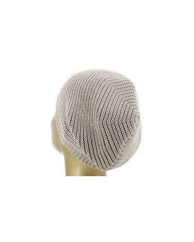 Вязаная шапка с пайетками шерстяная Peserico