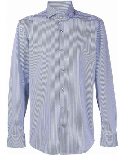 Niebieska koszula w paski z długimi rękawami Boss Hugo Boss