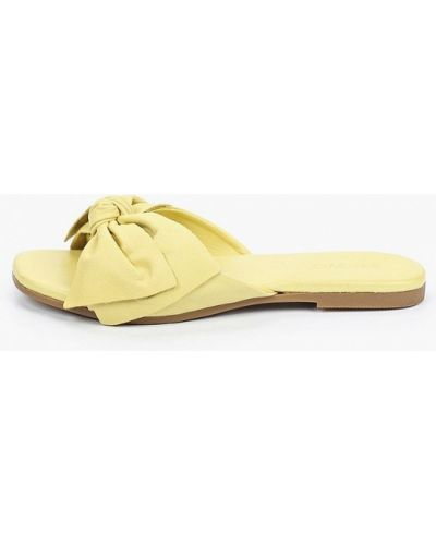 Кожаные сабо - желтые Inuovo