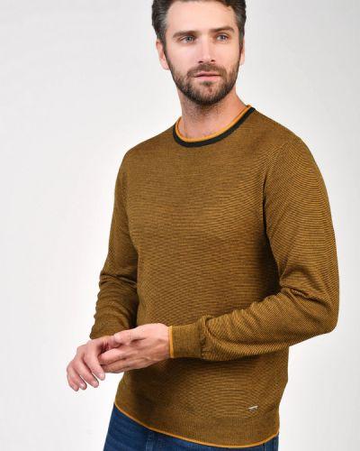 Шерстяной коричневый джемпер Daniel Hechter