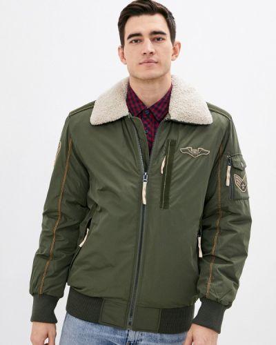 Зеленая утепленная куртка Vizani