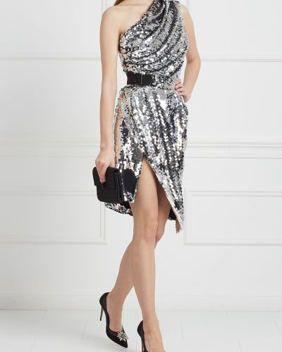 Вечернее платье на одно плечо с пайетками Carven