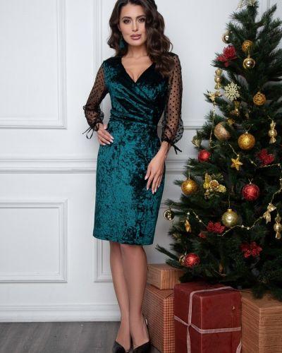С рукавами вечернее платье новогоднее с вырезом Belluche