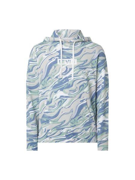 Fioletowa bluza z kapturem bawełniana Levi's