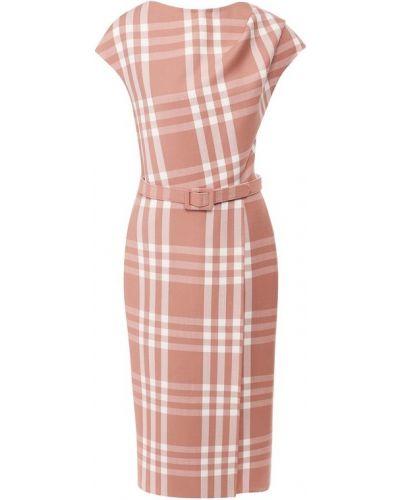 Деловое платье розовое в рубчик Oscar De La Renta