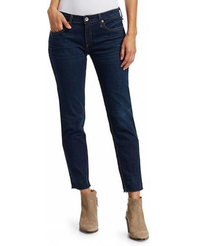 Niebieskie jeansy bawełniane na obcasie Rag & Bone