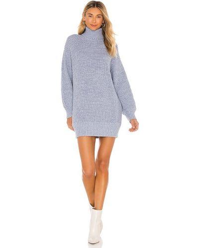 Платье мини с декольте - синее Minkpink