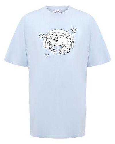 Хлопковая футболка - синяя Vetements