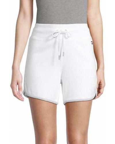 Białe szorty bawełniane Tommy Hilfiger Sport