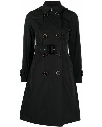 Czarny płaszcz przeciwdeszczowy Herno
