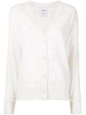 Biały sweter z dekoltem w serek Barrie