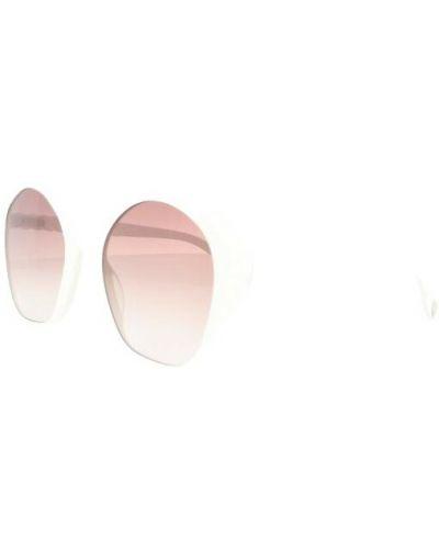 Białe okulary Chloe