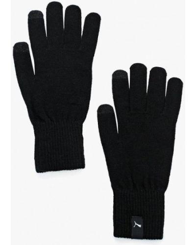 Черные перчатки текстильные Puma