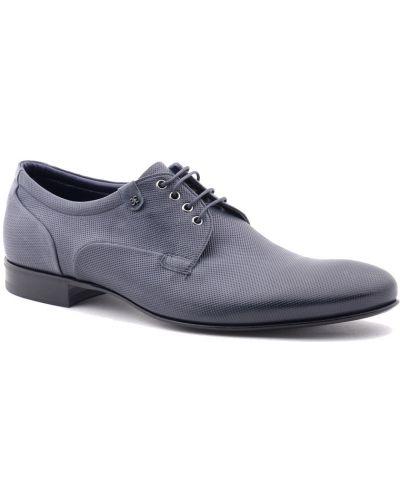 Синие туфли с перфорацией Fabi