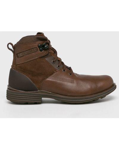 Кожаные ботинки высокие темно-коричневый Caterpillar