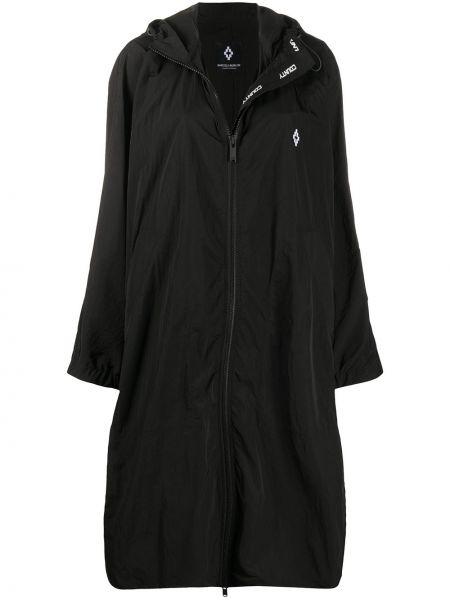 С рукавами пальто с капюшоном на молнии айвори с капюшоном Marcelo Burlon. County Of Milan