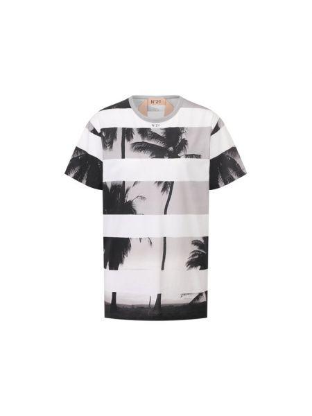 Хлопковая белая футбольная футболка No. 21