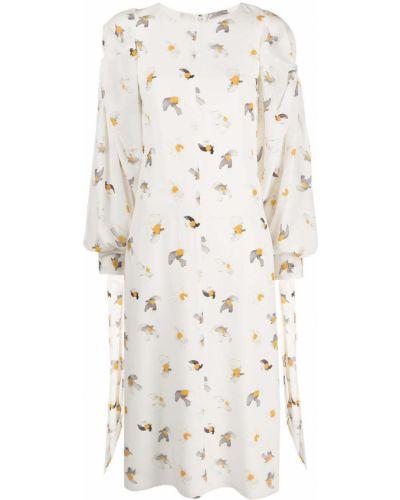Белое платье макси с вырезом круглое Nina Ricci
