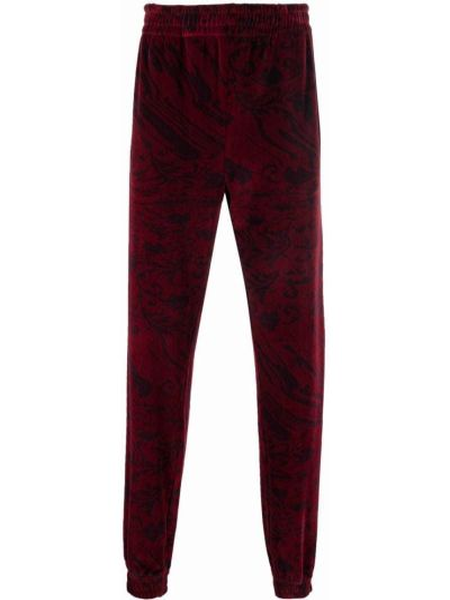 Spodnie z printem bordowe Etudes