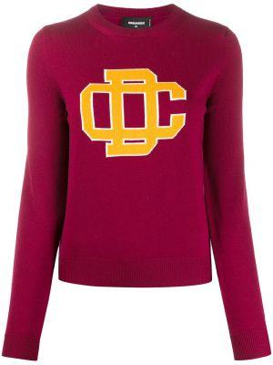 Кашемировый свитер - красный Dsquared2