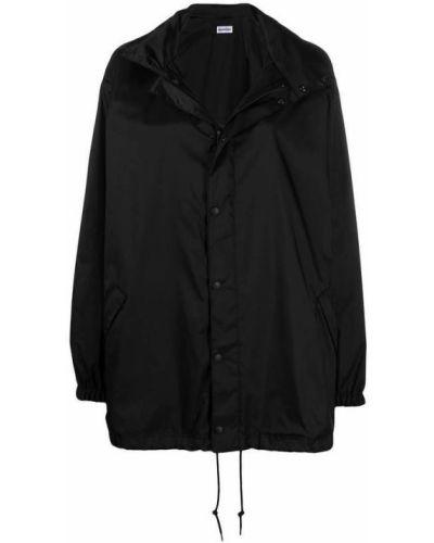 Czarna długa kurtka oversize casual Balenciaga