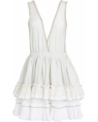 Sukienka koronkowa z wiskozy z haftem Chio