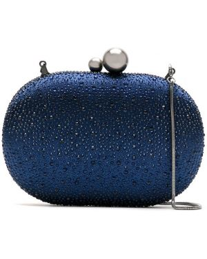 Синяя сумка с подкладкой со стразами Isla