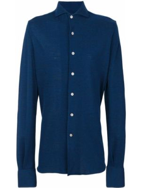 Koszula wełniany niebieski Canali