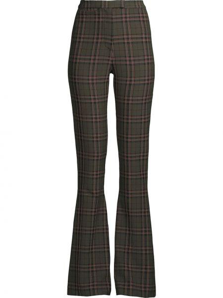 Zielone spodnie z wiskozy z printem Nicole Miller