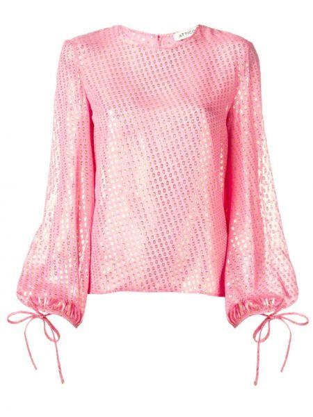 Блузка с длинным рукавом с пышными рукавами Attico