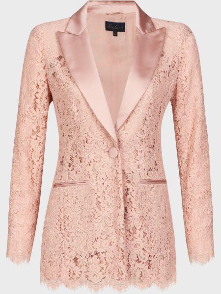 Розовый пиджак на пуговицах из вискозы Luisa Spagnoli