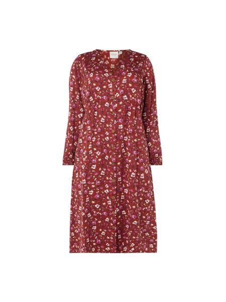 Sukienka rozkloszowana z długimi rękawami z wiskozy Junarose