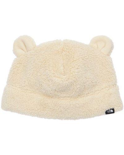 Beżowy kapelusz z aplikacjami The North Face