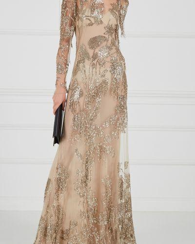 Вечернее платье облегающее с вышивкой Alexander Mcqueen