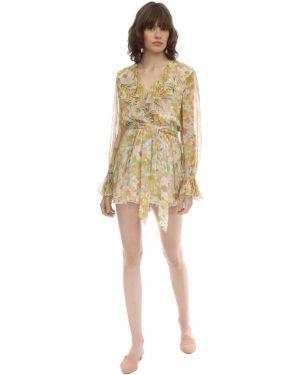 Платье мини макси с V-образным вырезом Zimmermann