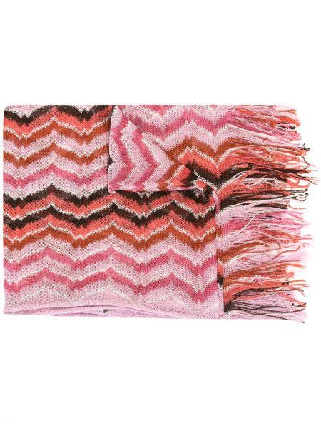 Розовый шарф с бахромой из вискозы Missoni Pre-owned