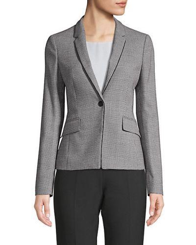 Шерстяной с рукавами классический пиджак с карманами Boss Hugo Boss