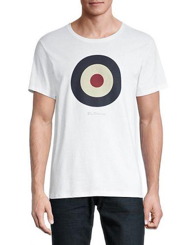 Хлопковая белая футболка с короткими рукавами Ben Sherman