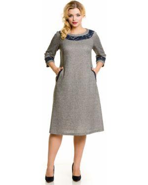 Повседневное платье со вставками трапеция Novita